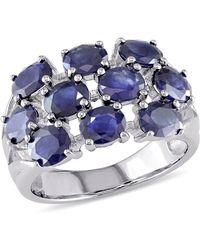 Catherine Malandrino - Oval Cut Sapphire Cluster Ring - Lyst