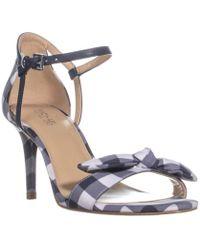 1ca20ad6f6e Lyst - Michael Kors Michael Warren Platform Slide Sandals - Optic ...