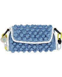 Missoni - Women's Light Blue Plastic Shoulder Bag - Lyst