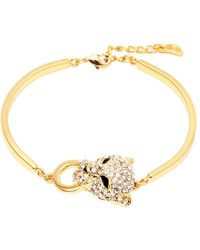 Peermont - Gold And Swarovski Elements Heart Bracelet - Lyst