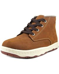 Simple - Barney 91l Men Round Toe Leather Tan Boot - Lyst