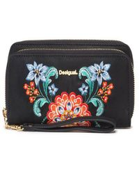 Desigual - Women's Black Polyester Wallet - Lyst