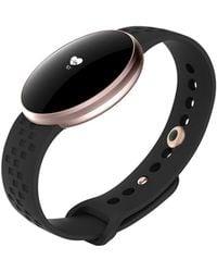 Swiss Time Watches - Metallic Rose Gold Black Smart Watch - Lyst