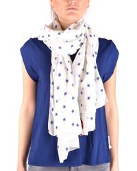 Altea - Women's White Cotton Scarf - Lyst