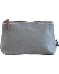 Maika - Waxed Ash Print Zipper Pouch, Medium - Lyst