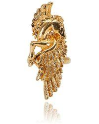 Roberto Cavalli - Gold Metal Vertical Soaring Horse Ring - Lyst