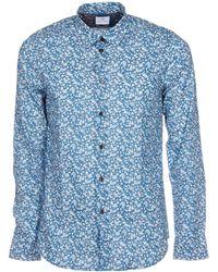 Paul Smith - Men's Light Blue/white Cotton Shirt - Lyst