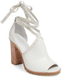 Frye - Suzie Pickstitch Lug Heeled Sandal - Lyst
