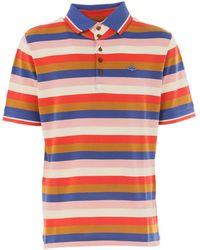 Vivienne Westwood - Men's S25gc0317s22837multicolor Multicolor Cotton Polo Shirt - Lyst