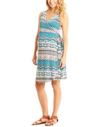 Everly Grey - 'tania' Sleeveless Maternity/nursing Wrap Dress - Lyst