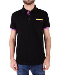 Trussardi - Men's Black Cotton Polo Shirt - Lyst