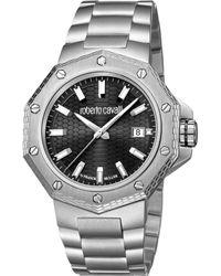 Roberto Cavalli - Rc-40 Swiss Made Men's Quartz Silver Stainless Steel Bracelet Watch - Lyst