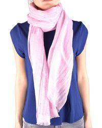 Altea - Women's Pink Linen Scarf - Lyst