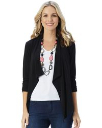 Patchington - Destination Collection - Ruched Sleeve Tuxedo Cardigan - Lyst