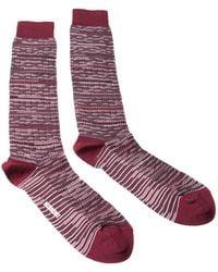 Missoni - Gm00cmu5245 0002 Maroon/gray Knee Length Socks - Lyst