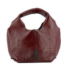 Henry Beguelin - Women's Red Leather Handbag - Lyst
