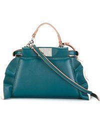 4a77cddd9c Lyst - Fendi Women s Orange Leather Shoulder Bag
