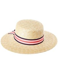 Kathy Jeanne - Straw Boater Hat With Bow - Lyst