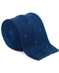 Tom Ford - Ford Mens Blue Navy 100% Silk Knit Skinny Square Tie - Lyst
