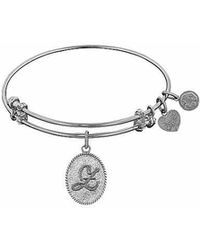 Angelica - Initial Bangle- Z - Lyst
