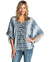 Rip Curl - Blue Tunic Skies Above Cover-up - Lyst