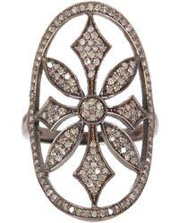 Adornia - Champagne Diamond Renata Ring - Lyst