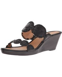 Jack Rogers - Womens Shelby Leather Open Toe Casual Platform Sandals - Lyst