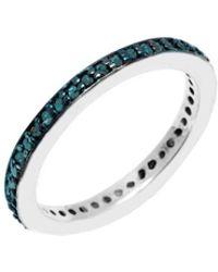 Barzel - Sterling Silver 0.38cttw Genuine Blue Diamond Ring - Lyst