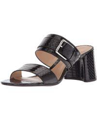 Ralph Lauren - Lauren By Womens Farie Leather Open Toe Casual Slide Sandals - Lyst