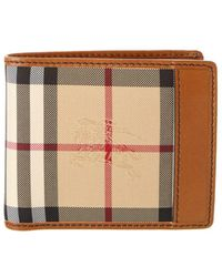 Burberry - Horseferry Check Leather Lined Folding Wallet - Lyst