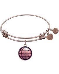Angelica - Smooth Finish Brass Earth Bangle Bracelet, 7.25 - Lyst