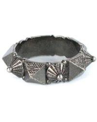 Valentino   Women's Silver Rockstud Slip On Ring   Lyst