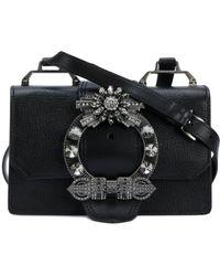 Miu Miu - Women's Black Leather Shoulder Bag - Lyst