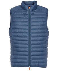 Save The Duck - Men's Blue Polyamide Vest - Lyst