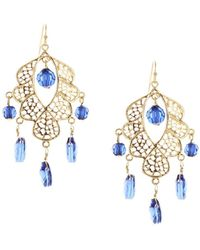 Sparkling Sage - 14k Plated Resin Chandelier Earrings - Lyst