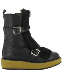 Paloma Barceló - Women's Black Leather Ankle Boots - Lyst