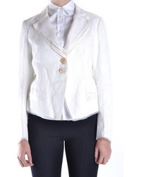 Marithé et François Girbaud - Women's White Cotton Jacket - Lyst