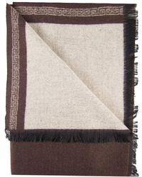 Dibi - Brown & Khaki Bordered Scarf - Lyst