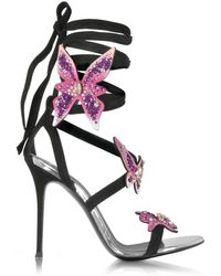 Giuseppe Zanotti - Women's Black Suede Sandals - Lyst