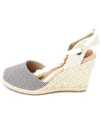 Roxy - Womens Bolsa Chica Cotton Closed Toe Casual Espadrille Sandals - Lyst