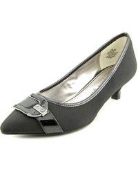 Ak Anne Klein - Madalon Women Pointed Toe Canvas Black Heels - Lyst