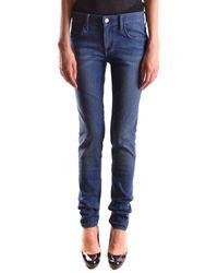 Burberry - Women's Blue Cotton Jeans - Lyst