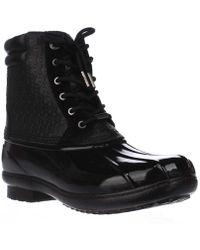 Michael Kors - Michael Easton Bootie Short Logo Rainboots - Black - Lyst