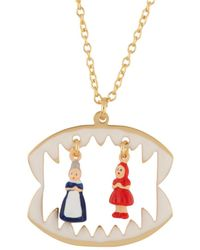 Les Nereides - Into The Woods Litlle Red Riding Hood And The Grandmother In The Wolf's Maw Necklace - Lyst