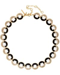 Lele Sadoughi - 14k Plated Crystal Necklace - Lyst