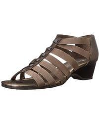Bella Vita - Womens Paula11 Fabric Open Toe Casual Strappy Sandals - Lyst