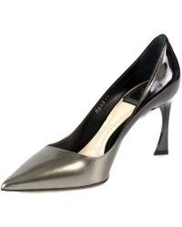 Dior - Graded Patent Calfskin Pump | 8cm Heel | Grey And Black - Lyst