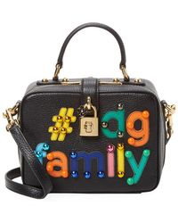 Dolce   Gabbana -  dg Family Dolce Box Bag Leather Crossbody - Lyst 18638c3a4e5e5