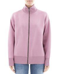 Bottega Veneta | Women's Pink Wool Sweatshirt | Lyst