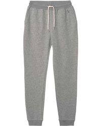 GANT - Women's Grey Cotton Joggers - Lyst